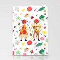 Pizza Folk Stationery Cards