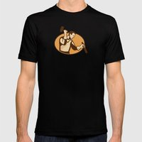 Carpenter Sculptor With … Mens Fitted Tee Black SMALL