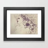 Lion's Mane Framed Art Print