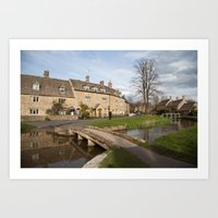Lower Slaughter Art Print