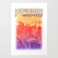 KFDDA - Japanese Superstar Tee Art Print