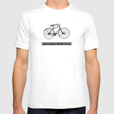 bicycle White Mens Fitted Tee SMALL