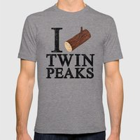 I Love Twin Peaks (Log) Mens Fitted Tee Tri-Grey SMALL