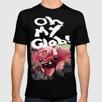 OH MY GLOB! Mens Fitted Tee Black SMALL