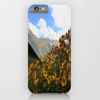 iPhone & iPod Case featuring Daisies and Alps by Kim Ramage