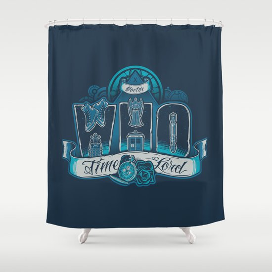 Infinite Who Shower Curtain