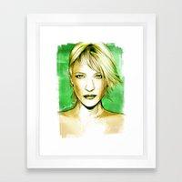 Cate Blanchett - Poptrai… Framed Art Print