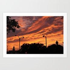 Pink and Orange Sunset Art Print