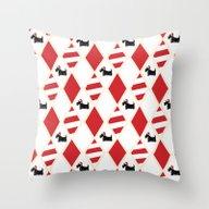 Scottie Dog Christmas Pa… Throw Pillow