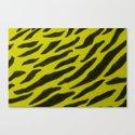Yellow Zebra Print Canvas Print