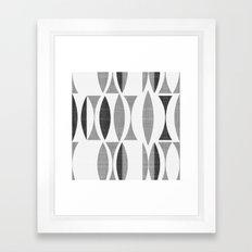 Seventies Black and White Framed Art Print