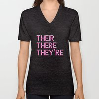 Their, There, They're Unisex V-Neck