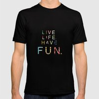 Live Life Mens Fitted Tee Black SMALL