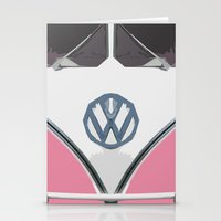 Pink Love Bus Redux Stationery Cards