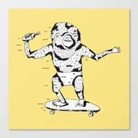 Skate Monkey Canvas Print