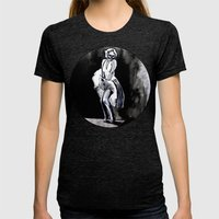 Skeleton Itch Womens Fitted Tee Tri-Black SMALL