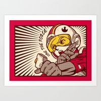 Go, Red Five, Go! Art Print
