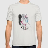 Wild at Heart Mens Fitted Tee Silver SMALL