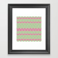 Graphic Holiday Pattern Framed Art Print