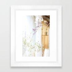 Flower and dresses Framed Art Print