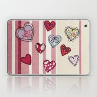 Embroidered Heart Illustration Laptop & iPad Skin
