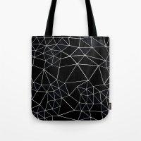 Segment Zoom Black And W… Tote Bag