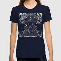 3:33 - Bicameral Brain  Womens Fitted Tee Navy SMALL