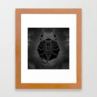 Scorpion Vignette Framed Art Print