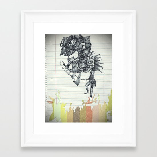 Hombre Simple Framed Art Print