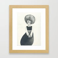 New Girl Framed Art Print