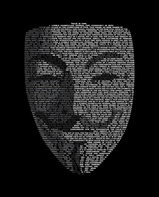 ...You May Call Me 'V' – So who's Anonymous? Art Print