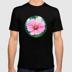 Pretty in Pink SMALL Black Mens Fitted Tee