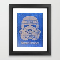 BEAST Street Trooper Head (Black on Cardboard) Framed Art Print