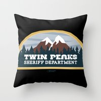 Twin Peaks Sheriff Depar… Throw Pillow
