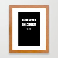I Survived The Storm Framed Art Print