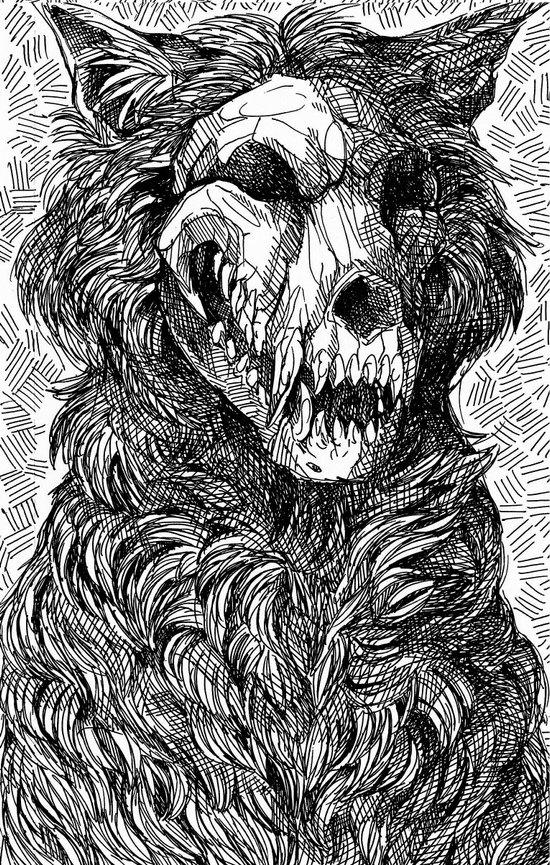 WolfskullJack Art Print