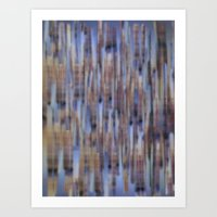 Abstract ~ Blue  lines Art Print