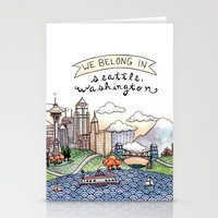 We Belong in Seattle Stationery Cards