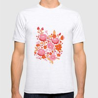 Floral Folk Mens Fitted Tee Ash Grey SMALL