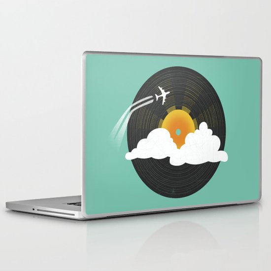 Sunburst Records Laptop & iPad Skin