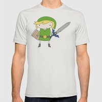 Link - Wind Waker Mens Fitted Tee Silver SMALL