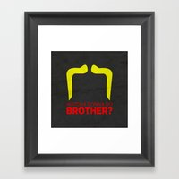 Brother Framed Art Print