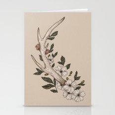 Floral Antler Stationery Cards