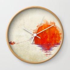 The Fisherman and His Boy Wall Clock