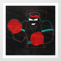 Boxing Gloves Art Print