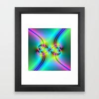 Neon Love Knots Framed Art Print