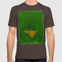confidant III. (penny-farthing) Mens Fitted Tee Brown SMALL
