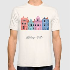 Vector Cities - Notting Hill Mens Fitted Tee Natural SMALL