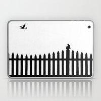 Bird on a fence Laptop & iPad Skin