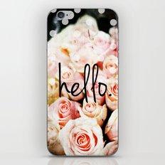 Hello Roses iPhone & iPod Skin